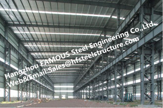 China Fabricated Steel Industrial Steel Buildings with Galvanized steel Surface treatment supplier