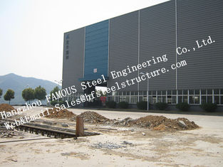 Column Type Prefabricated Industrial Steel Buildings Welded Craft For Workshop