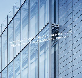 China Double Layer Insulation Glass Curtain Wall Stick Built System Transparant supplier