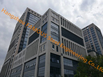 China Office Building Multi-storey Steel Building With Glass Curtain Wall Cladding System supplier