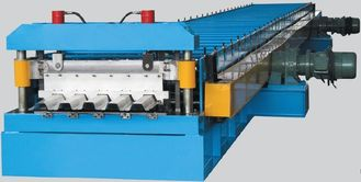 China Column Corrugated Roll Forming Machine For Steel Structure Decking supplier