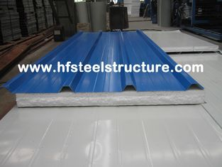 China Color Steel Metal Roofing Sheets Sandwich Panel With 0.3 - 0.8mm Thickness supplier