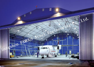 China Airport Development Aircraft Hangar Buildings , Steel Airplane Hangars Constructions supplier