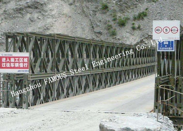 China Hot Galvanized Double Lane Pre - Engineered Bailey Bridge Construction Steel 200 Type supplier
