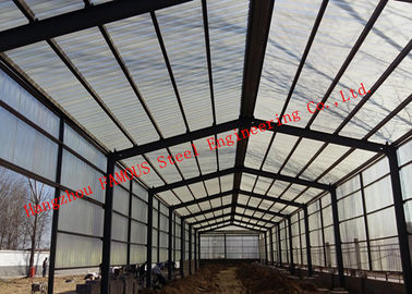 China Prefabricated Steel Structure Poultry Farming Shed For Chicken Farm Building And Cattle Farm Building supplier