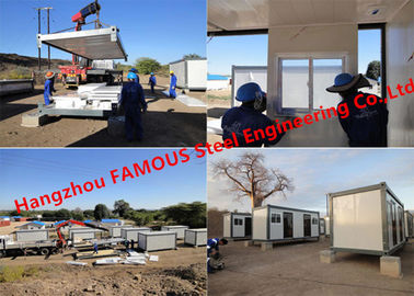 China Modern Steel Frame Modular Prefab Container House For Site Office And Temporary Accommodation supplier