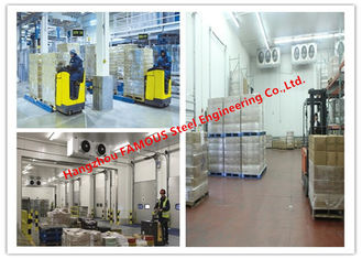 China Large Volume Temperature Controlled Cold Room Panel For Integrated Logistic Distribution Center supplier