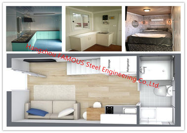 China Luxury Decoration Prefab Modular House Building With Bathroom / Kitchen / Washbasin / Bedroom supplier