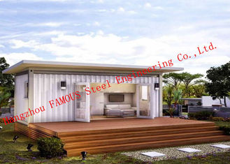 Lightweight 40ft Prefab Container House For Living Accommodation With Painted Surface