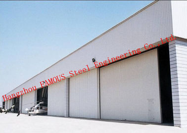 China Manual Folded Push Pull Overhead Industrial Garage Doors Track And Hardware Of Aircraft Hanger supplier