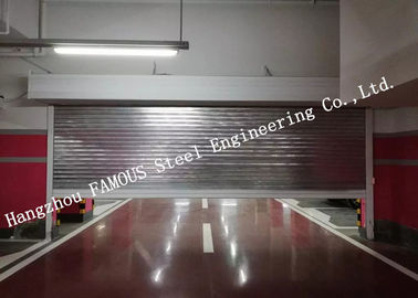 China Automatic Galvanized Industrial Garage Doors Heavy Duty Steel Roller Shutter Door For Underground supplier