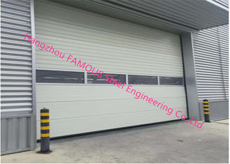 China PU Foaming Automatic Handle Industrial Garage Doors EPS Sandwich Panel Sliding Door For Workshop supplier