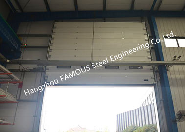 China Commercial Overhead Sectional Sliding Industrial Garage Doors Factory Up Ward Fast Lifting Gate supplier