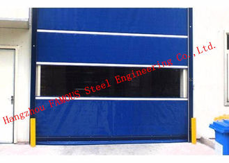 China Finished Surface PVC Automatic Industrial Garage Doors Roller Shutter With Visual Window supplier