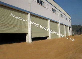 China Fire Rated Electric Rolling Shutter Door Exterior Dustproof Roll Up Door For Industry supplier