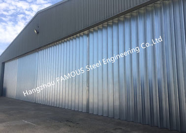 China Stable Triangular Seal Vertical Hinged Door Sectional Leaves Folding Sliding Hangar Doors supplier