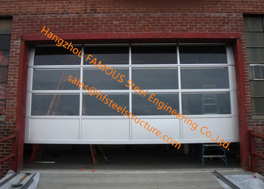 China Motorized Aluminum Insulated Tempered Glass Full View Overhead Garage Door supplier