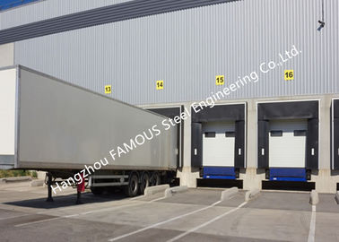 China PVC Fabric Loading Dock Sectional Seal Lifting Industrial Garage Doors With Remote Operations supplier