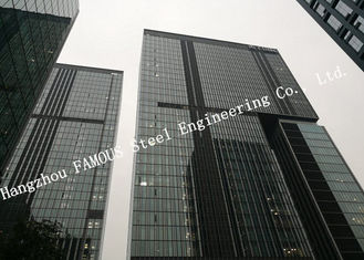 China Hidden Framed Aluminum Glass Curtain Wall Heat Insulation For Commercial Office Mall supplier