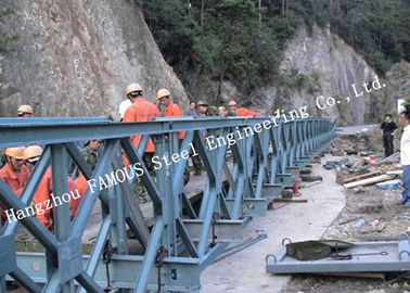China 200 Type Permanent Galvanized Surface Treatment Steel Bailey Bridge Double Rows Bridge supplier