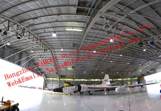 China Waterproof Insulated Prefabricated Steel Structure Aircraft Hangar For Private Usage supplier