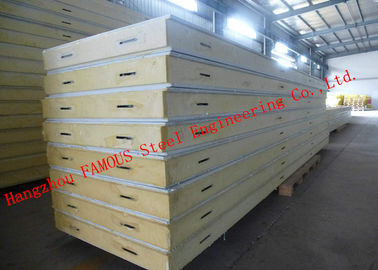 China Customized Heat Insulation Cost Saving Insulated PU Sandwich Panels For Wall Systems supplier