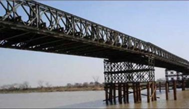 China Hot Dip Galvanized And Welding , Braking , Rolling , Shearing Structural Bailey Bridge supplier