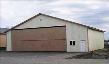 PEB Steel Aircraft Hangars With 26Ga Color Steel Corrugated Panels