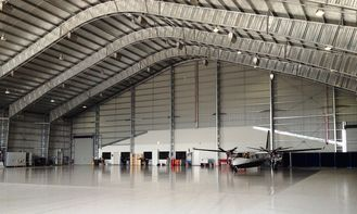 China Customized Prefabricated Steel Aircraft Hangars With 26 Gauge Steel Tiles supplier