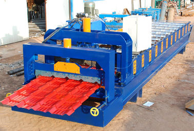 China Steel Roof Glazed Tile Roofing Sheet Forming Machine With 18 Forming Stations supplier