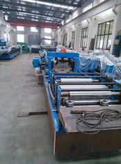 China Interchange Roll Forming Machine , C Z Purlin Production Line For Steel Strip supplier