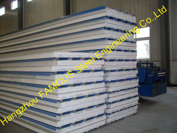 China Glass EPS Sandwich Roof Panel / Metal Roofing Sheets For Cladding supplier