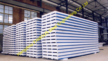 China Prefab Corrugated Metal Roofing Sheets Sandwich EPS PU Rock Wool supplier