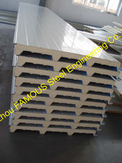 China 50mm PU Sandwich Wall Panels Thermal Insulation Prefab House supplier