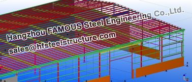 China Steel Workshop Civil Engineering Structural Designs For Fabrications supplier
