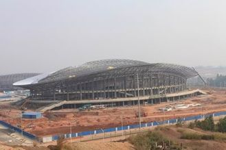 China OEM Steel Structure, Prefabricated Pipe Metal Truss Buildings and Sports Stadiums supplier