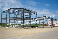 China Black Prefabricated Steel Buildings , Structural Steelworks Building Australia New Zealand Standard factory