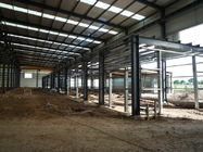 China Prefabricated industrial commercial steel buildings / residential steel structure building factory