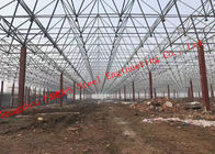 China Huge Span Steel Frame Buildings , Steel Structure Building Convenient Installation factory