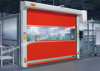 China Automatic High Speed PVC Fabric Aluminium Alloy Electric Roller Shutter Doors factory