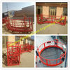 China 90 Degree Hoist Working Platform Round Design Modular Cradle With Anti Slip Checkered Plate factory
