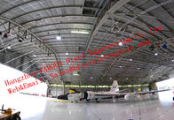China Large-span Waterproof Insulated Prefabricated Steel Structure Aircraft Hangar for Private Usage factory