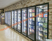 Supermarket Multideck Heated Glass Door For Cold Room / Refrigerator Parts / Freezer