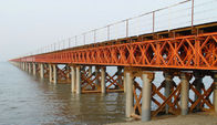 China OEM / Custom Welding Modular Steel Bridge / Compact Prefabricated Bailey Bridge company