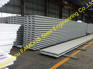 China Fiberglass Rockwool Insulated Sandwich Panels , Prefabricated Roof Wall factory