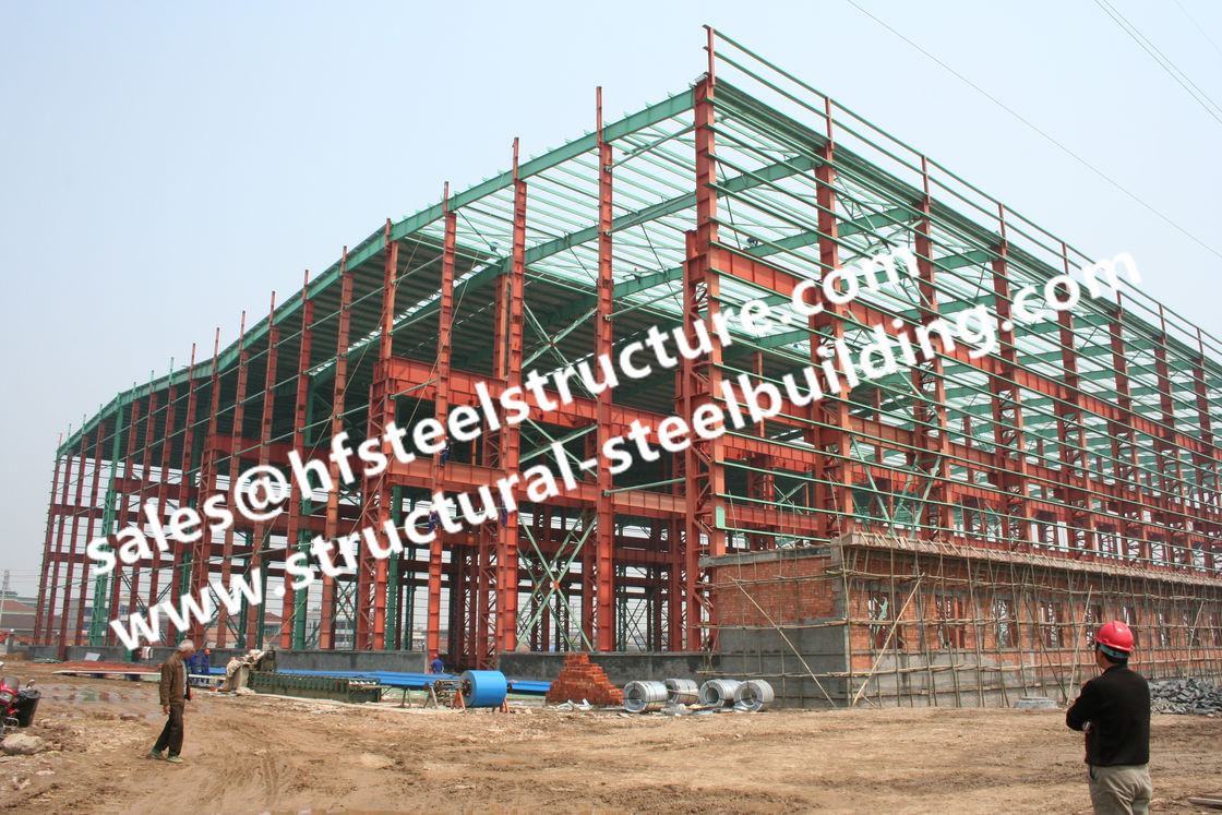 pre painted industrial workshop steel frame buildings s235jr columns frames