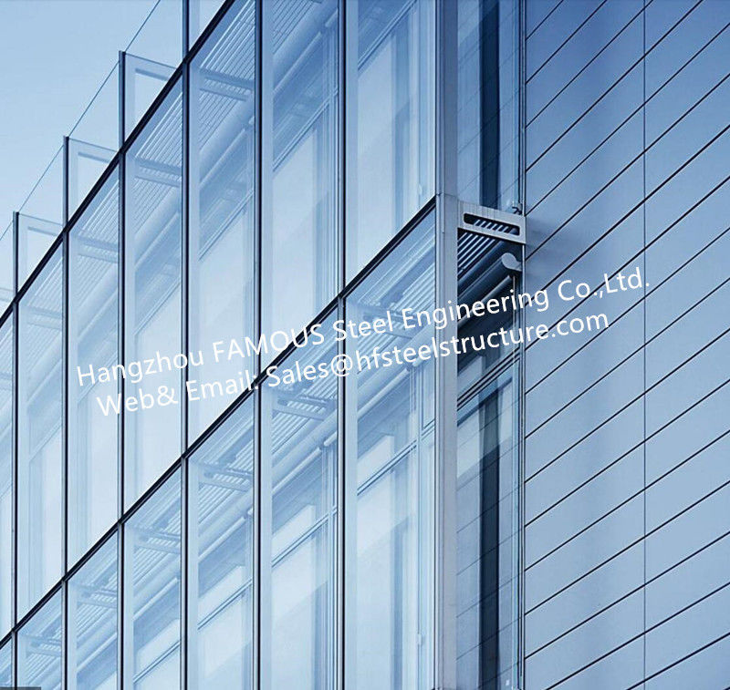 Double layer insulation glass curtain wall stick built