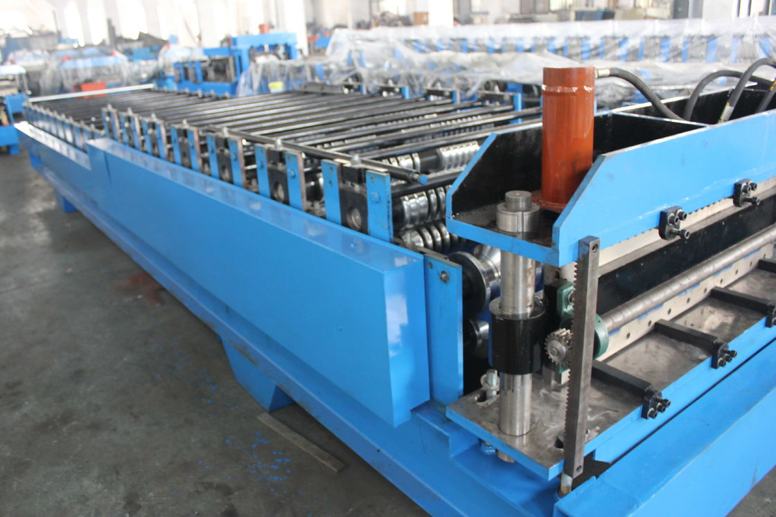Steel Tile Corrugated Roll Forming Machine By Chain Gear