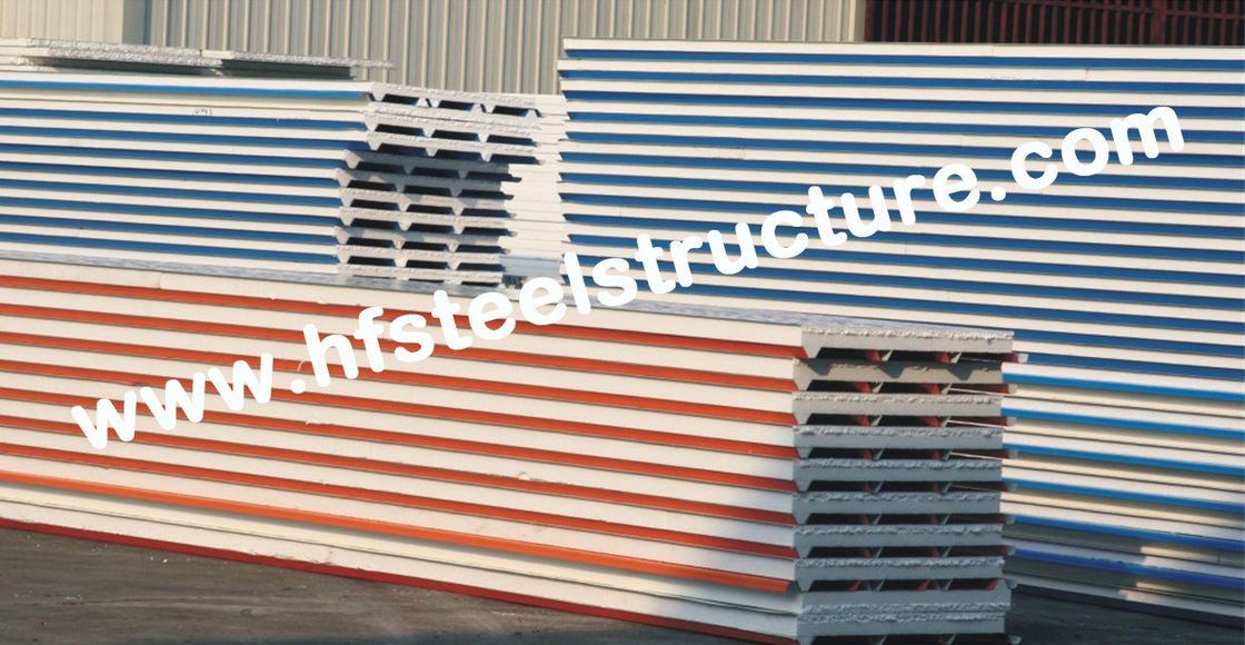 Eps Pu Metal Roofing Sheets With Color Steel Sandwich Panel