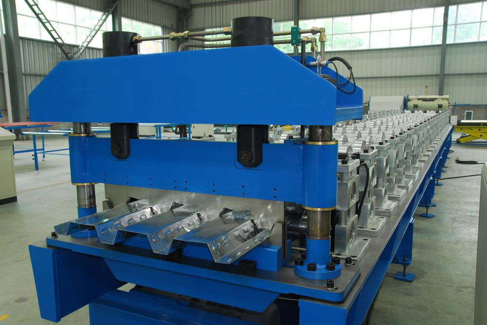 Floor Deck Roofing Sheet Forming Machine Plc Panasonic For